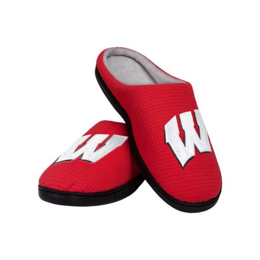wisconsin badgers football full over printed slippers 3