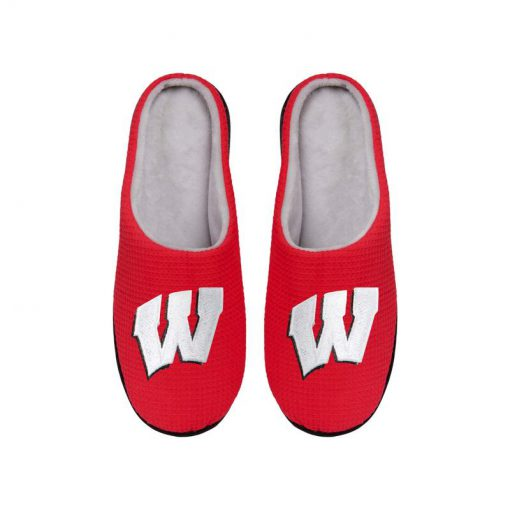 wisconsin badgers football full over printed slippers 4