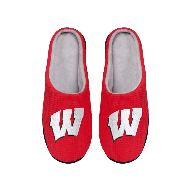 wisconsin badgers football full over printed slippers 5
