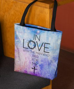 God i fell in love with the man who died for me tote bag 3