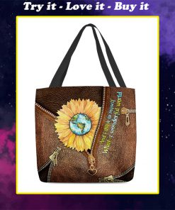 and i think to myself what a wonderful world leather pattern all over printed tote bag