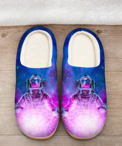 astronaut space galaxy colorful all over printed slippers 2
