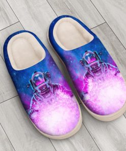 astronaut space galaxy colorful all over printed slippers 3