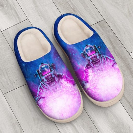 astronaut space galaxy colorful all over printed slippers 4