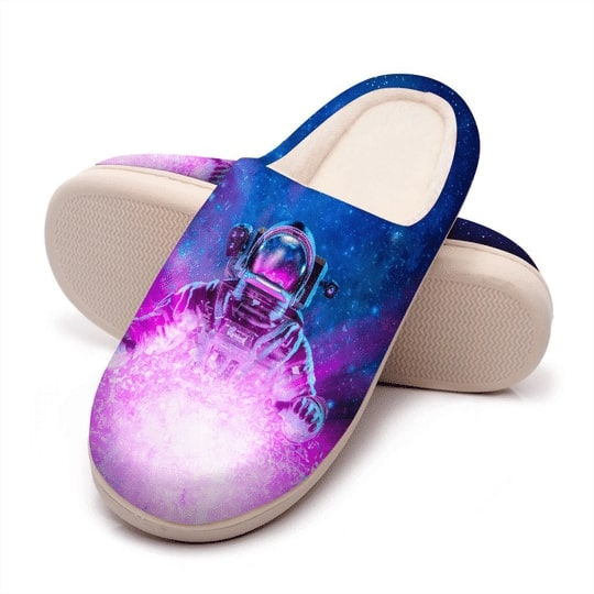 astronaut space galaxy colorful all over printed slippers 5