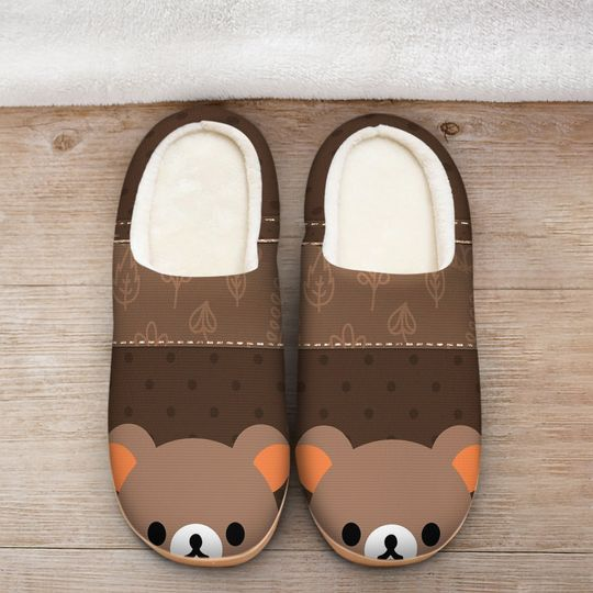 baby bear face all over printed slippers 2