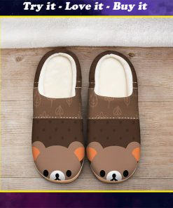 baby bear face all over printed slippers