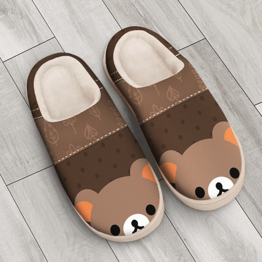 baby bear face all over printed slippers 3