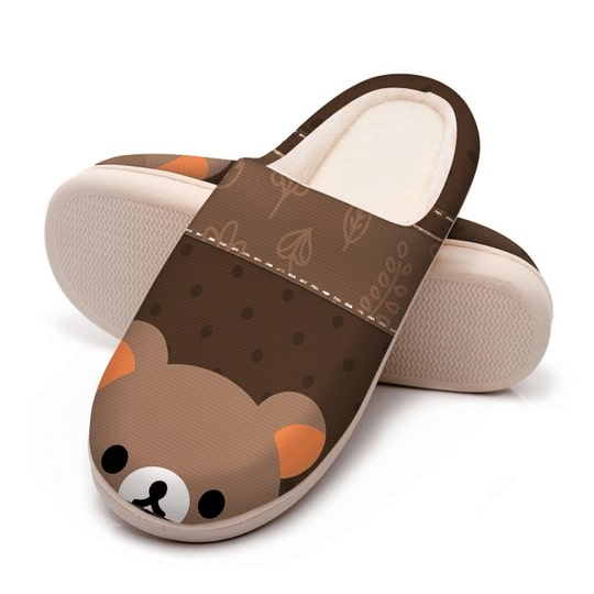 baby bear face all over printed slippers 5