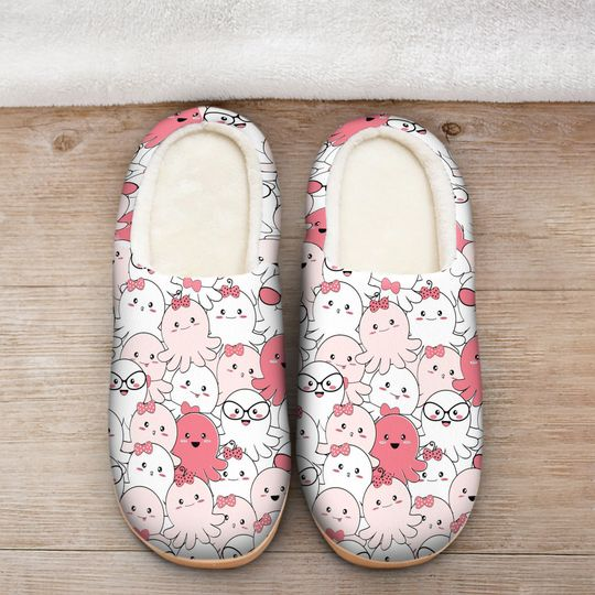 baby octopus all over printed slippers 2