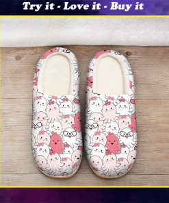 baby octopus all over printed slippers