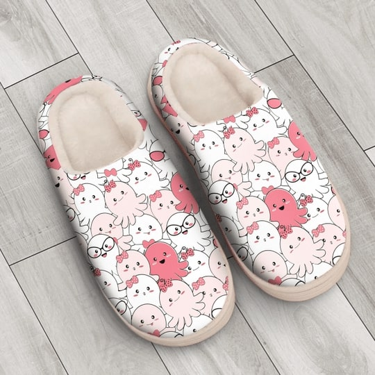 baby octopus all over printed slippers 4