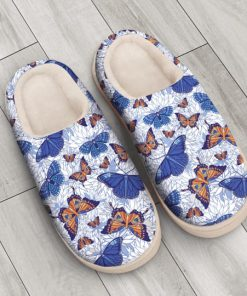 blue butterflies all over printed slippers 3
