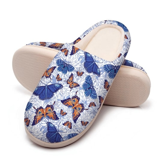 blue butterflies all over printed slippers 5