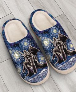 cthulhu mythos in night all over printed slippers 5