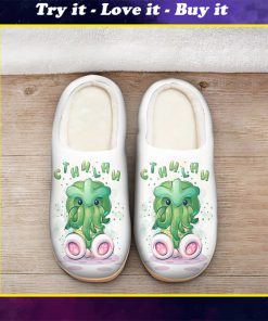 cute cthulhu mythos all over printed slippers