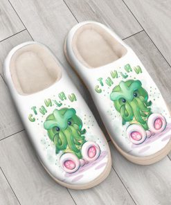 cute cthulhu mythos all over printed slippers 3