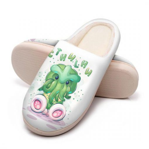 cute cthulhu mythos all over printed slippers 5