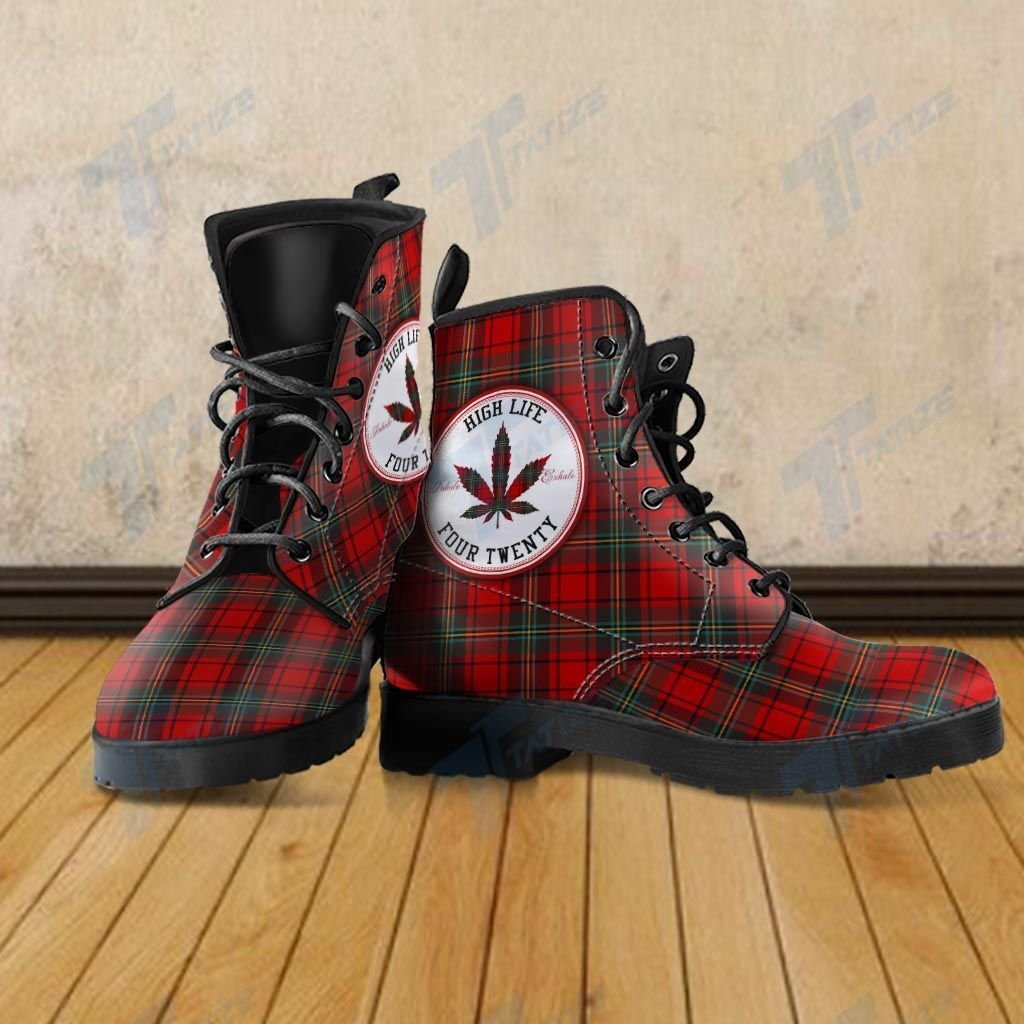 high life four twenty weed leaf all over printed winter boots 3