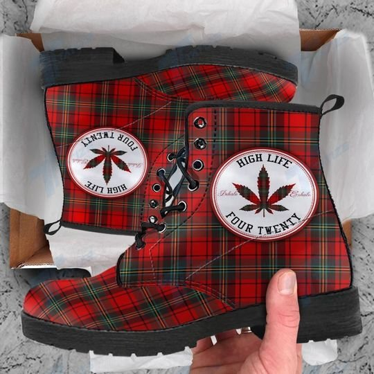 high life four twenty weed leaf all over printed winter boots 5