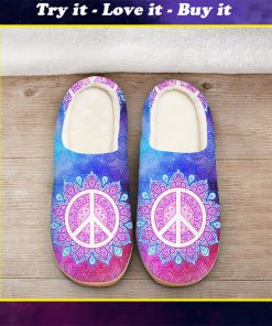 hippie mandala galaxy colorful all over printed slippers
