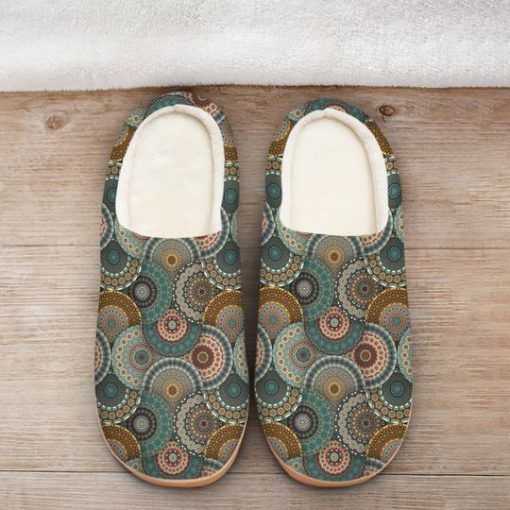 hippie mandala version all over printed slippers 2