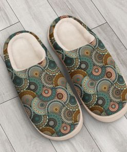 hippie mandala version all over printed slippers 3