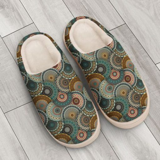 hippie mandala version all over printed slippers 4