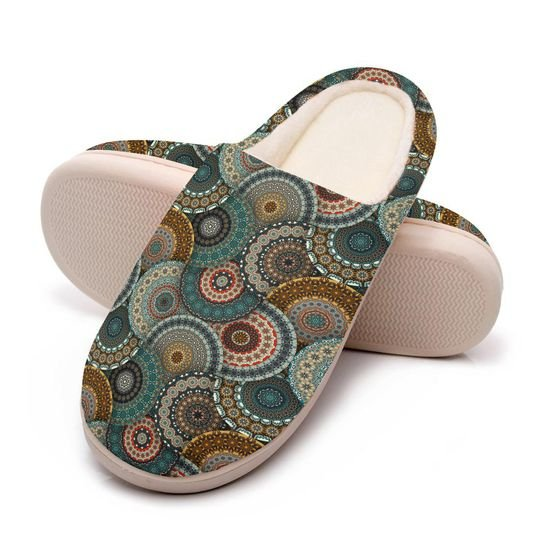 hippie mandala version all over printed slippers 5