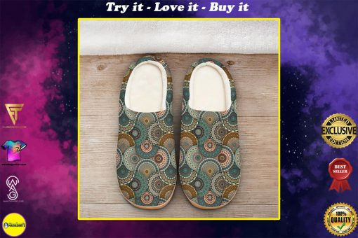 hippie mandala version all over printed slippers