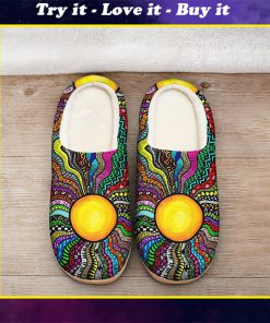 hippie sun colorful all over printed slippers