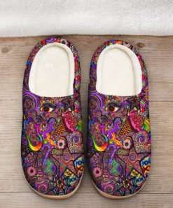 hippie symbol colorful all over printed slippers 2