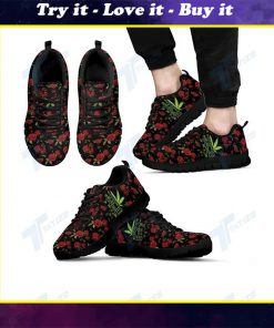 in a world full of rose be a weed all over printed sneakers