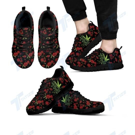in a world full of rose be a weed all over printed sneakers 4