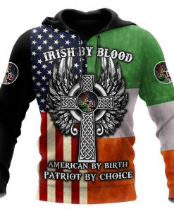 irish by blood american by birth patriot by choice the celtic cross shirt 1