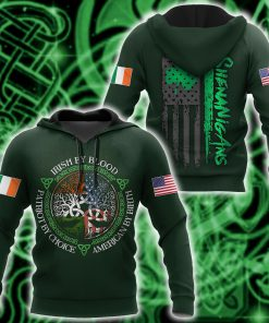 irish by blood american by birth patriot by choice tree of life all over printed shirt 1