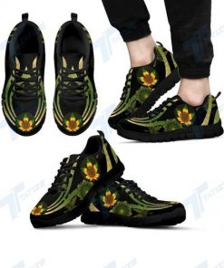 mandala cannabis sunflower all over printed sneakers 2