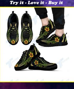 mandala cannabis sunflower all over printed sneakers