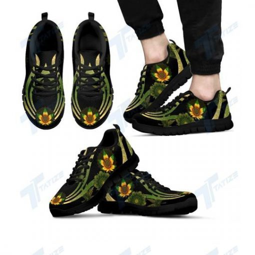 mandala cannabis sunflower all over printed sneakers 4