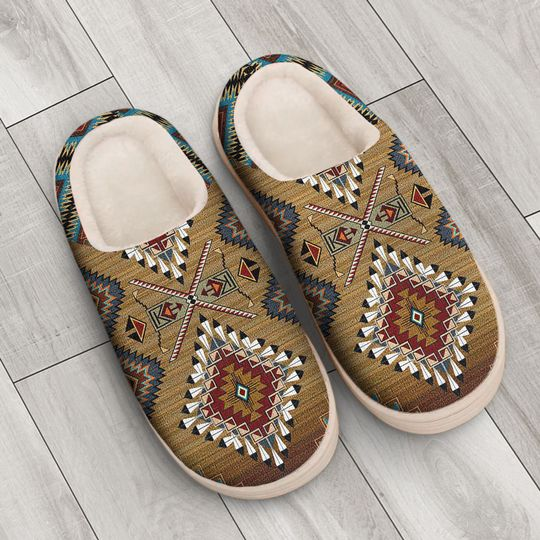 native american pattern all over printed slippers 3