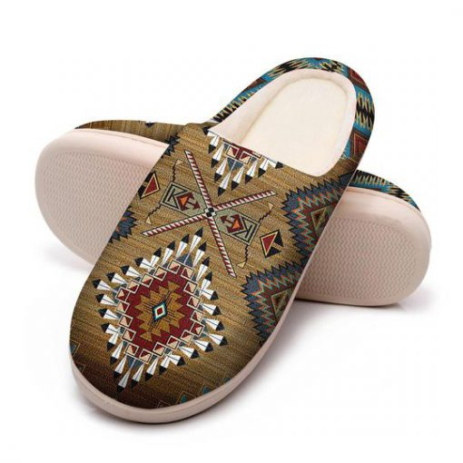 native american pattern all over printed slippers 5