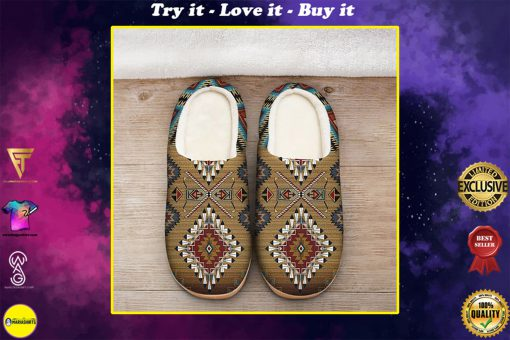 native american pattern all over printed slippers