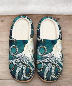 octopus in the ocean all over printed slippers 2