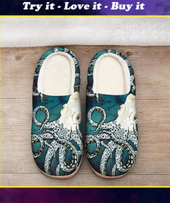 octopus in the ocean all over printed slippers