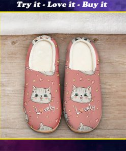 pink cat lovely all over printed slippers