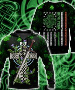saint patricks day irish pride and sword full printing shirt 1