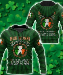 saint patricks day irish woman the soul of a witch all over print shirt 1