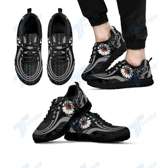 skull you are my sunshine all over printed sneakers 5