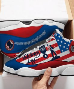 thank you veterans day american flag all over printed air jordan 13 sneakers 1