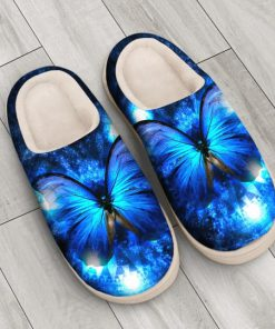 the blue butterfly in night all over printed slippers 4